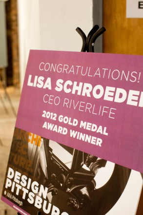 Congratulations to Lisa Schroeder, President and CEO of Riverlife, for receiving AIA Pittsburgh's Gold Medal