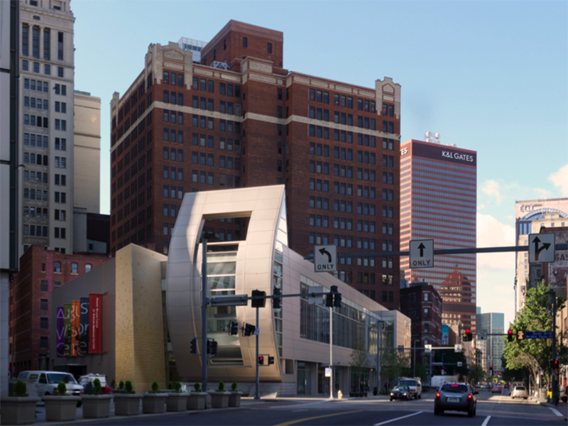With the reemergence of The August Wilson Center (owned by The African American Cultural Center), we take a look back at the Perkins + Will project completed in 2009. Photography by Steinkamp Photography and Joshua Franzos Photography.